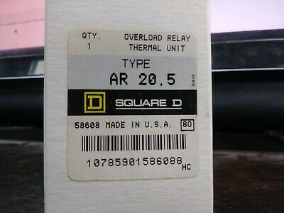 Square D Ar 20.5 Ar20.5 Overload Relay Thermal Unit Set Of 3 New In Box