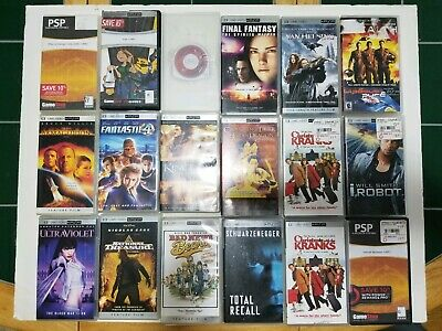 Sony PSP Movies Lot of 18   UMD VIDEO (Saw, Spiderman 2, Fantastic 4)