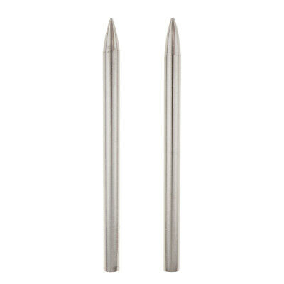 2pcs Paracord Needle With Screw Thread Shaft Tip Stiching Needle, Silver