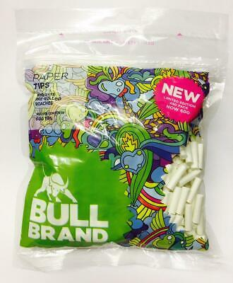 BULL BRAND 600 Bag KING SIZE PRE-ROLLED 6mm TIP PAPER ROACHES ROACH TIPS