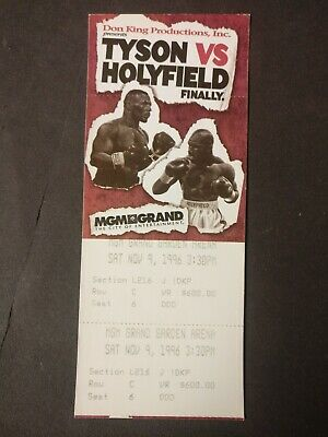b758fb40 MIKE TYSON vs EVANDER HOLYFIELD (1) MGM VIP/High Roller Boxing Fight ...