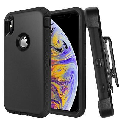 DEFENDER SERIES Case with Belt Clip For  iPhone XS Max Screen Built in