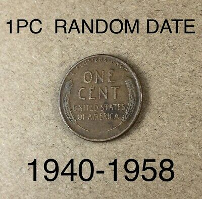 1940-1958 Pds Random Date Lincoln Wheat Penny 1C Cent - Old Coin -- Az.sales --