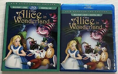Alice In Wonderland (Bluray, Dvd, Disney, 1951, OOP, Slipcover) Canadian