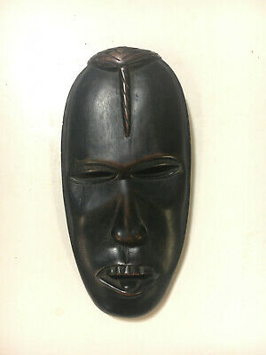 "Mask dense dark wood African Art 7"" long"