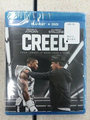 Creed Blu-ray/DVD Combo 2-Disc Set Brand New Sylvester Stallone/Michael B Jordon