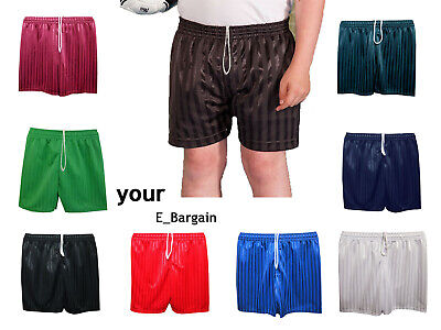 Sport Unisex  Shadow Stripe School PE shorts for Boys Girls Kids