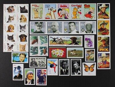 US 2010 Commemorative Year Set collection of 42 stamps Mint NH, See scans