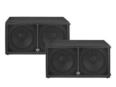 PAIR of Wharfedale Pro DELTA218B Passive sub woofer  speakers 1600W RMS each