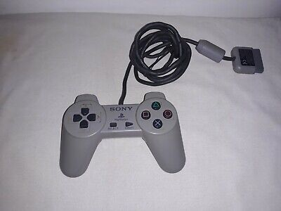 Original Official Sony Grey Playstation 1 PS1 Controller Genuine Wired Pad