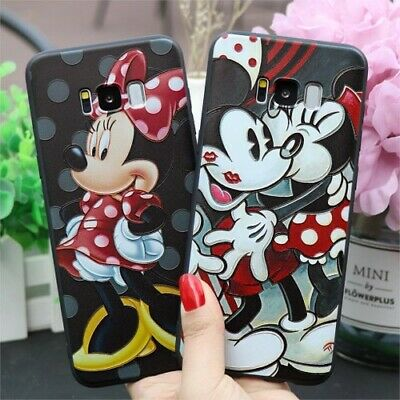 3D Minnie TPU Case For Samsung Galaxy A9 A8 Star A6 Plus A7 2018 A5 A3 2017 A50