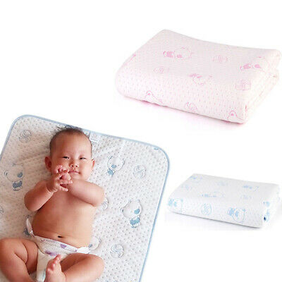 Baby Changing Pad Washable Urine Mat Infant Cotton Waterproof Nappy Diaper Cover