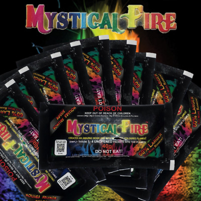 Mystical Fire 10 Pack Aussie Bonfire 40g Campfire Colourful Flames