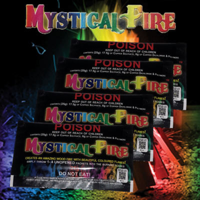 Mystical Fire 25g Campfire Colourful Flames 4 Pack