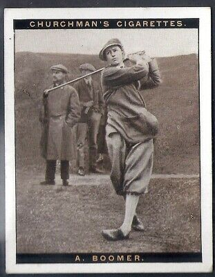 Churchman-Famous Golfers Golf (2Nd Series (Large Size))-#02- Aubrey Boomer