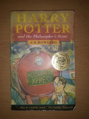 Harry Potter And The Philosopher's Stone 1997 1st Edition 20th Print Bloomsbury