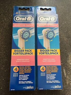 Authenic Braun Oral B Electric Toothbrush Replacement sensitive clean Heads