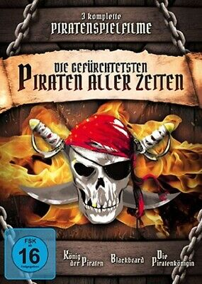 Piratenfilme Clásicos Box König Der Piratas Piratenkönigin Blackbeard 3 DVD