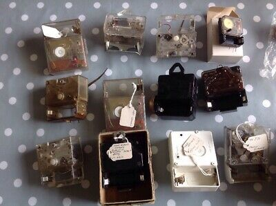 Vintage German Clock Movements Electric Clockmakers Parts Collection Untested