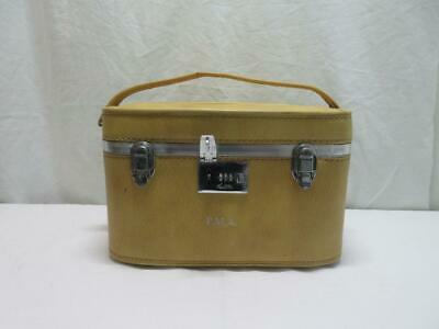 Vintage Ventura Hard Train Case/Small Luggage Mustard Yellow Made in USA