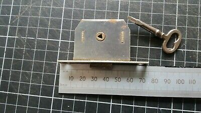 Antique Brass Cupboard-Cabinet drawer-Box lock  73mm -1 Key  (260)