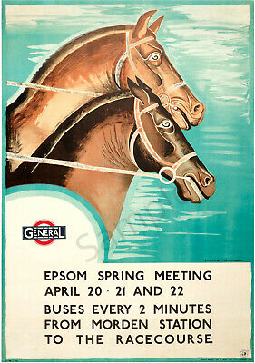 1933 Epsom Derby Transport A3 Poster Reprint