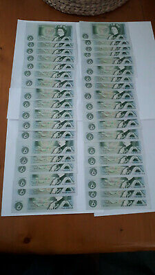 37 Bank Of England One Pound £1 Notes In Crisp Uncirculated Condition Uk Seller