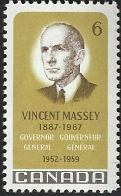 Canada    # 491     VINCENT MASSEY    Brand New 1969 Pristine Issue