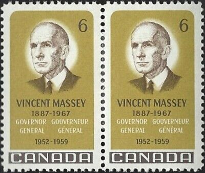 Canada    # 491 Pair    VINCENT MASSEY    Brand New 1969 Pristine Issue