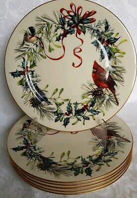 (6) Lenox Winter Greetings™Dinner Plates10 3/4 EXCELLENT CONDITION