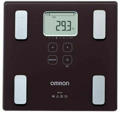 Omron BF214 Digital Weighing Scales with Body Fat Monitor & BMI Setting