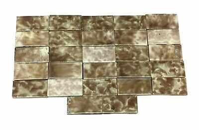 Small Brown Fireplace Accent Tiles