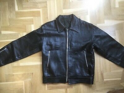 """Late 50s Early 60s leather motorcycle jacket. Size 36 - 37 """" Original Rockers"""