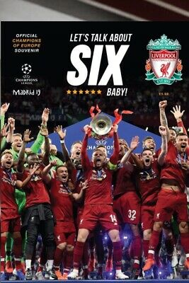 LIVERPOOL FC Champions Of Europe 2019-Official Souvenir 100 Page Mag