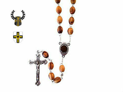 Medieval Holy Land Crusades Teutonic Knight Olive Rosary Battle Cross Symbol War