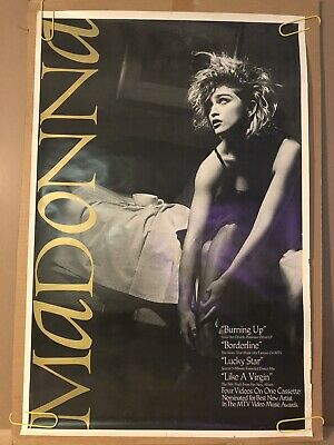 Like A Virgin In Bed w/ Madonna Original Vintage Music Poster 1984