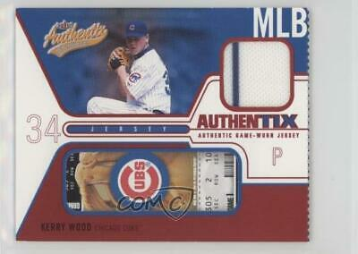 2004 Fleer Authentix Game Jerseys Ripped #JA-KW Kerry Wood Chicago Cubs Card