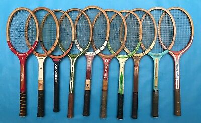 Vintage Wooden Tennis Racquets-Lot of 10  FREE SHIPPING!
