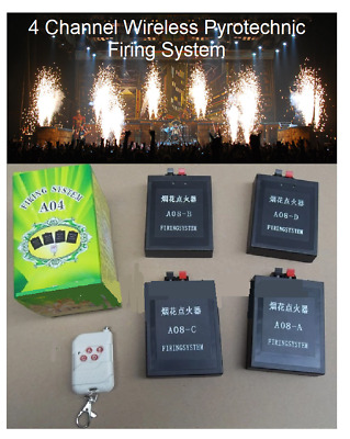 4 Channel Wireless Pyrotechnic Firework Firing System