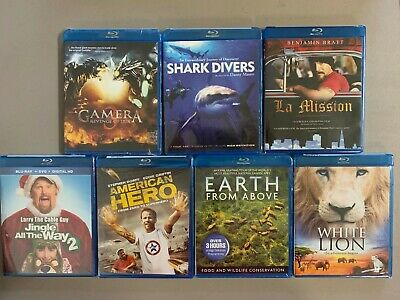 Blu-ray lot New Free Ship Gamera 3 Shark Divers 3 Am Hero Earth Above LA Mission