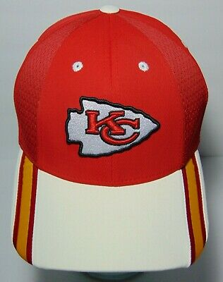 26c7c625185cfe New KC KANSAS CITY CHIEFS NFL Football Reebox 3 Color RED WHITE YELLOW HAT  CAP