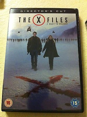 David Duchovny Gillian Anderson X-FILES: I WANT TO BELIEVE Dir Cut 2008 UK DVD
