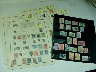 Greece Postage Stamps  On Album Pages & Loose About 149 Stamps 1888-1962