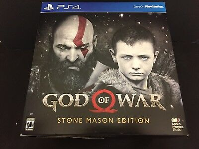 God of War PS4 Stone Mason Collectors Edition (2018) Brand New Sealed