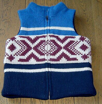 Country Road Boys Wool Puffer Vest Sz 4 - 5