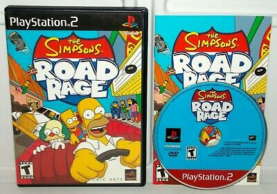 THE SIMPSONS ROAD Rage for PS2, Complete - Tested - $9 25