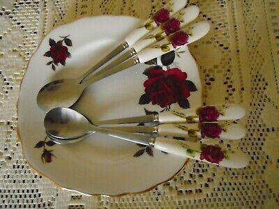 Colclough Amoretta  / Old English Rose  ** Inspired ** 6 Spoons
