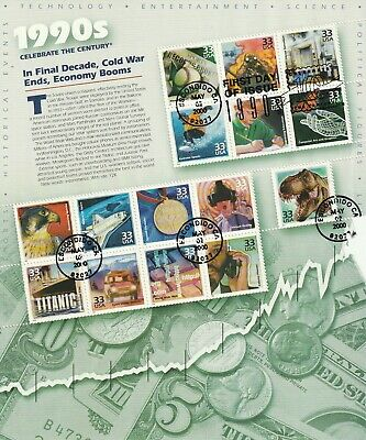 USA - Celebrate the Century Stamps Miniature Sheets 10 SCANS (2059L)