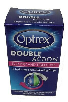 Optrex Double Action For Dry And Tired Eyes Rehydrating Drops - BRAND NEW