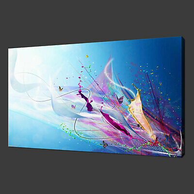 BUTTERFLY SPLASH ABSTRACT QUALITY CANVAS PRINT ART MODERN READY TO HANG